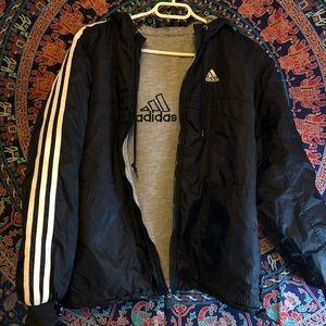 Men's small reversible adidas coat